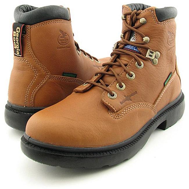 "Georgia Men's 6"" Flex Point Brown Boots Wide (Size 8)"