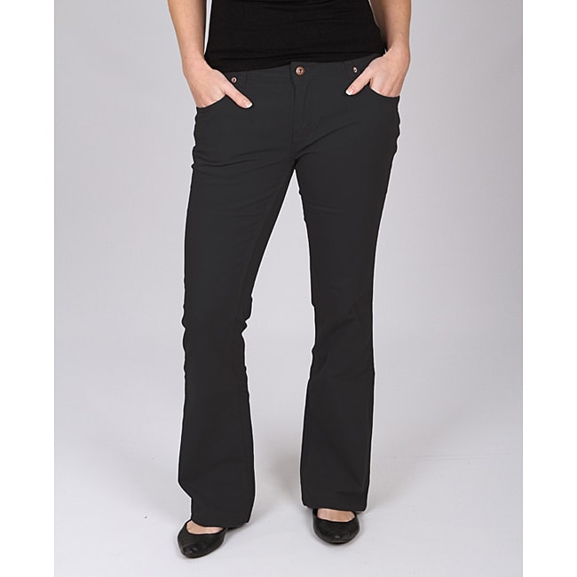 Dickies Women's Black Slim-fit Canvas Bootcut Pant