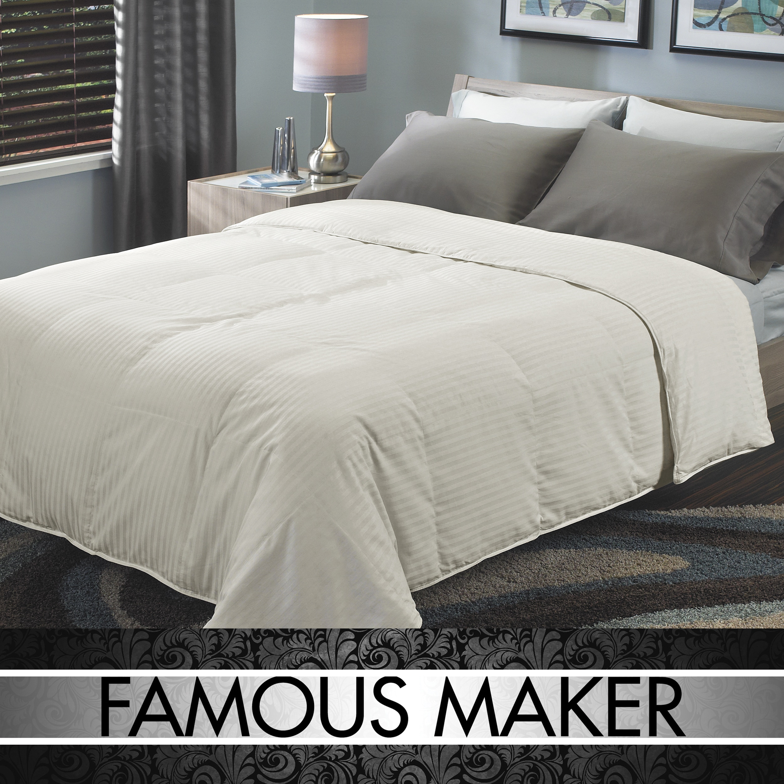 Famous Maker Select  Dual Weight Natural White Down Comforter