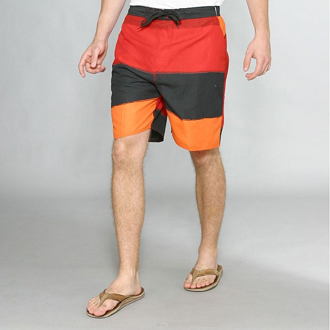 Zonal Men's Transporter E-Board Swim Shorts in High Risk Red