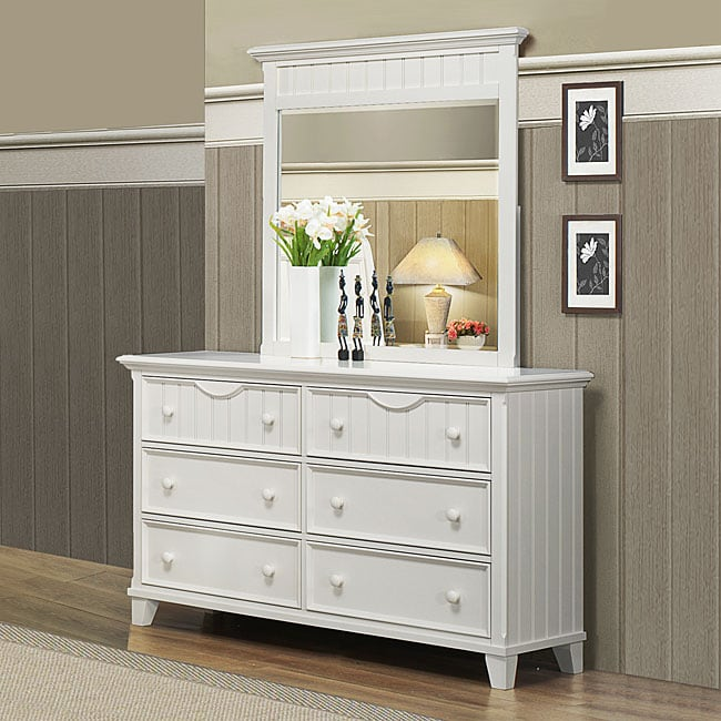 Alderson White Dresser and Mirror