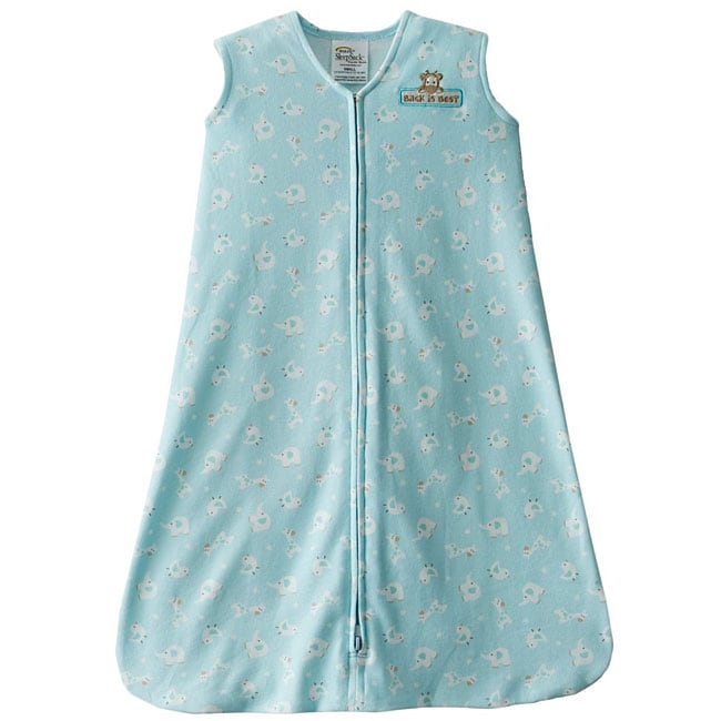 Halo SleepSack Cotton Wearable Blanket in Turquoise Animal Friends (Pack of 2)