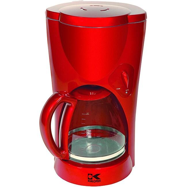 Kalorik Red Metallic Coffee Maker (Refurbished)
