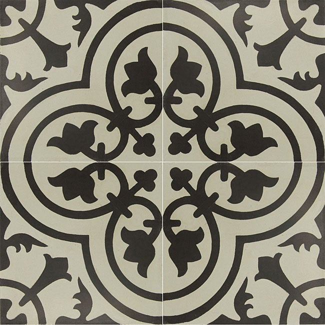 Granada Tile Echo Collection Black And White Cement Tiles