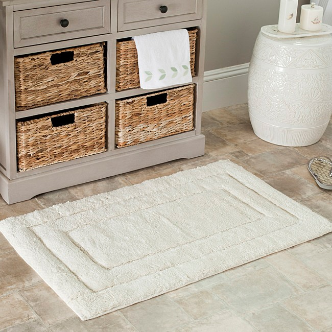 Safavieh Spa 2400 Gram Natural 21 x 34 Bath Rug (Set of 2)