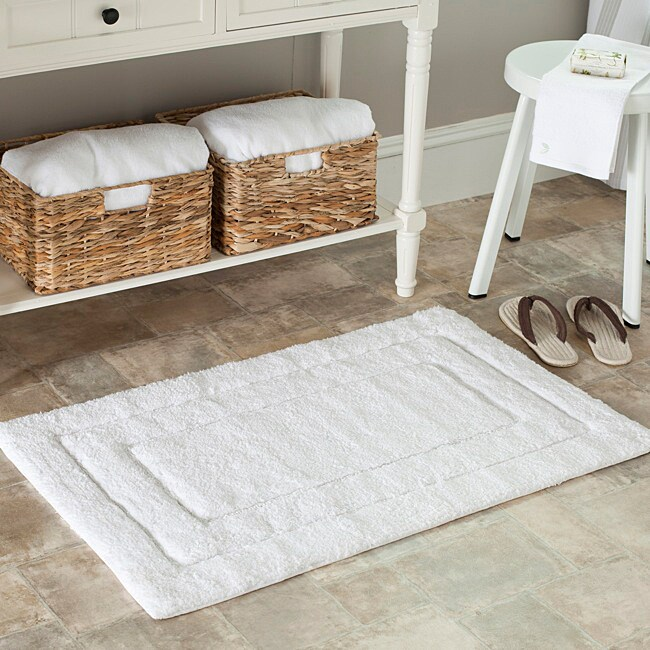 Safavieh Spa 2400 Gram Journey White 21 x 34 Bath Mats (Set of 2)