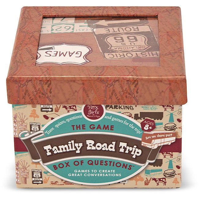 Melissa & Doug Family Road Trip Box of Questions Trivia Card Game