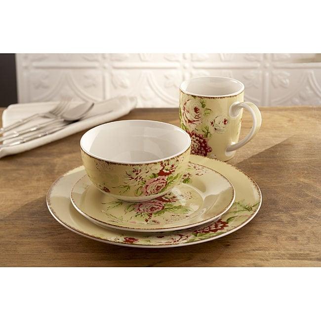 Waverly Tea Dance Creme Fraiche 16-piece Dinner Set