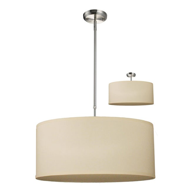 albion off white drum shade 24 inch lighting fixture. Black Bedroom Furniture Sets. Home Design Ideas