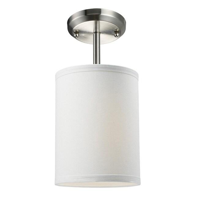 Albion White Drum Shade 6-inch Lighting Fixture