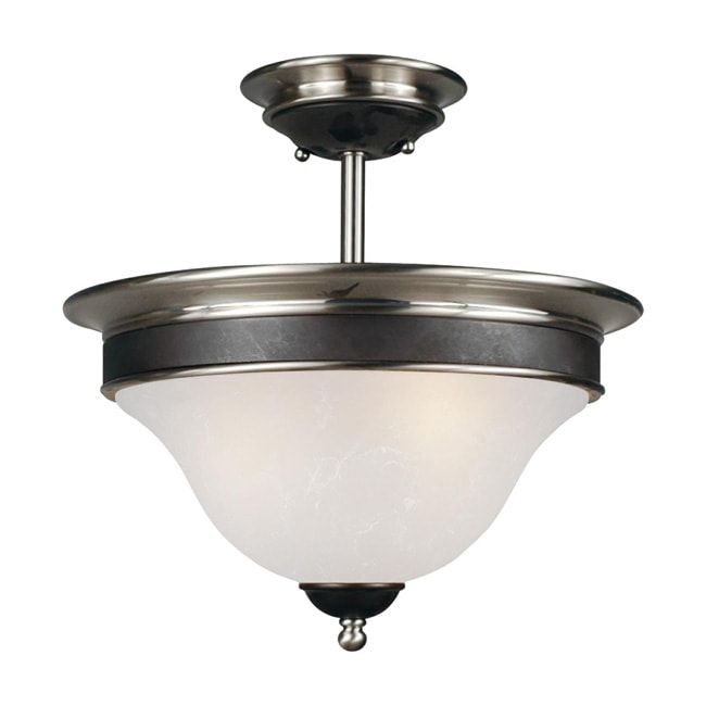 Dynasty 14-inch White Lighting Fixture