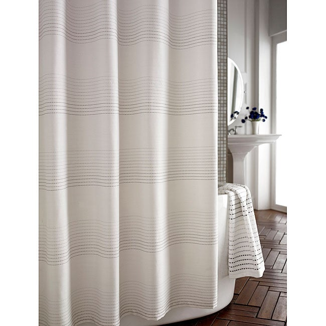 Pique Contrast Stitched Shower Curtain