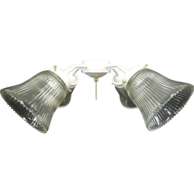 White Ceiling Fan 4-light Kit