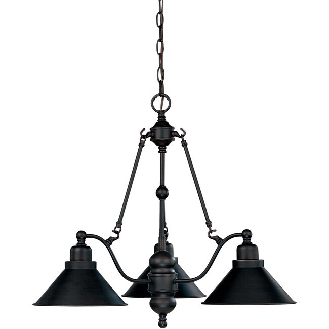 Bridgeview - 3 Light - Chandelier Mission Dust Bronze Finish