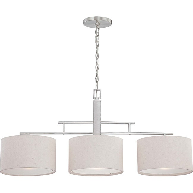 Percussion 3-light Brushed Nickel Pendant