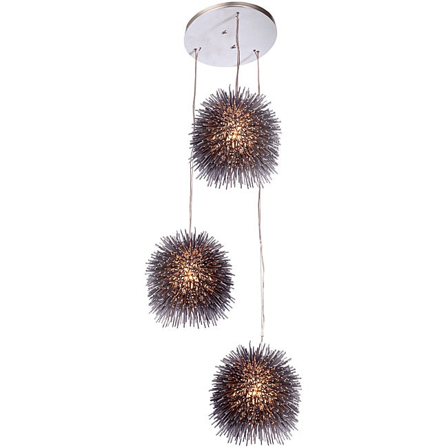 Varaluz Urchin Three Light Cluster Pendant