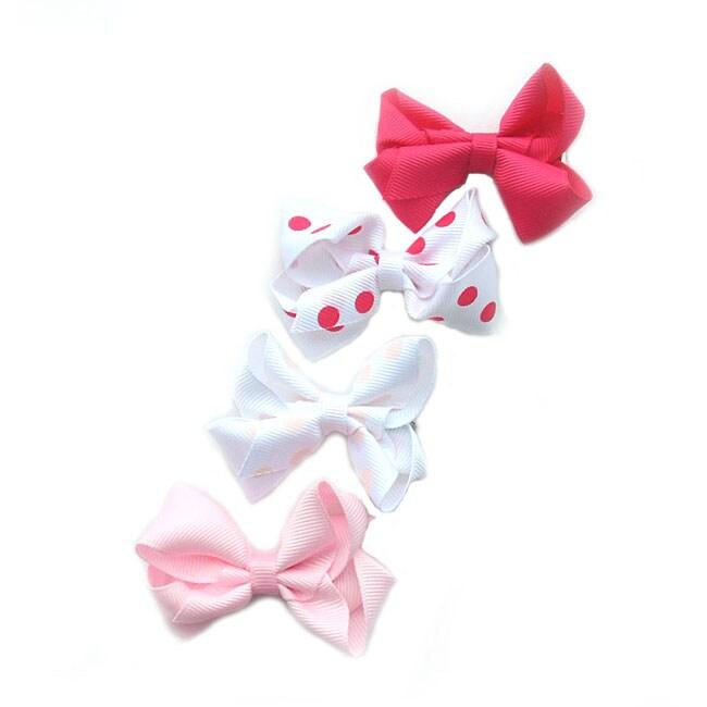 Set of 4 Boutique Bow Clip