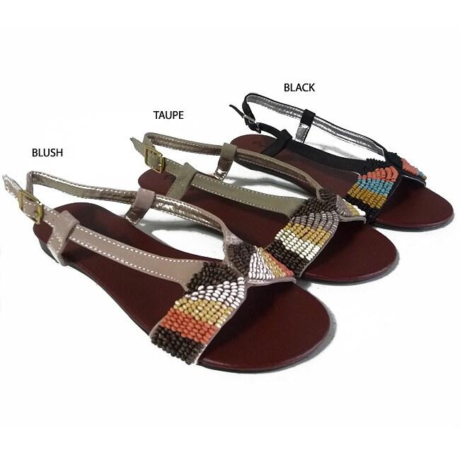 I-Comfort Women's Beaded Sandals