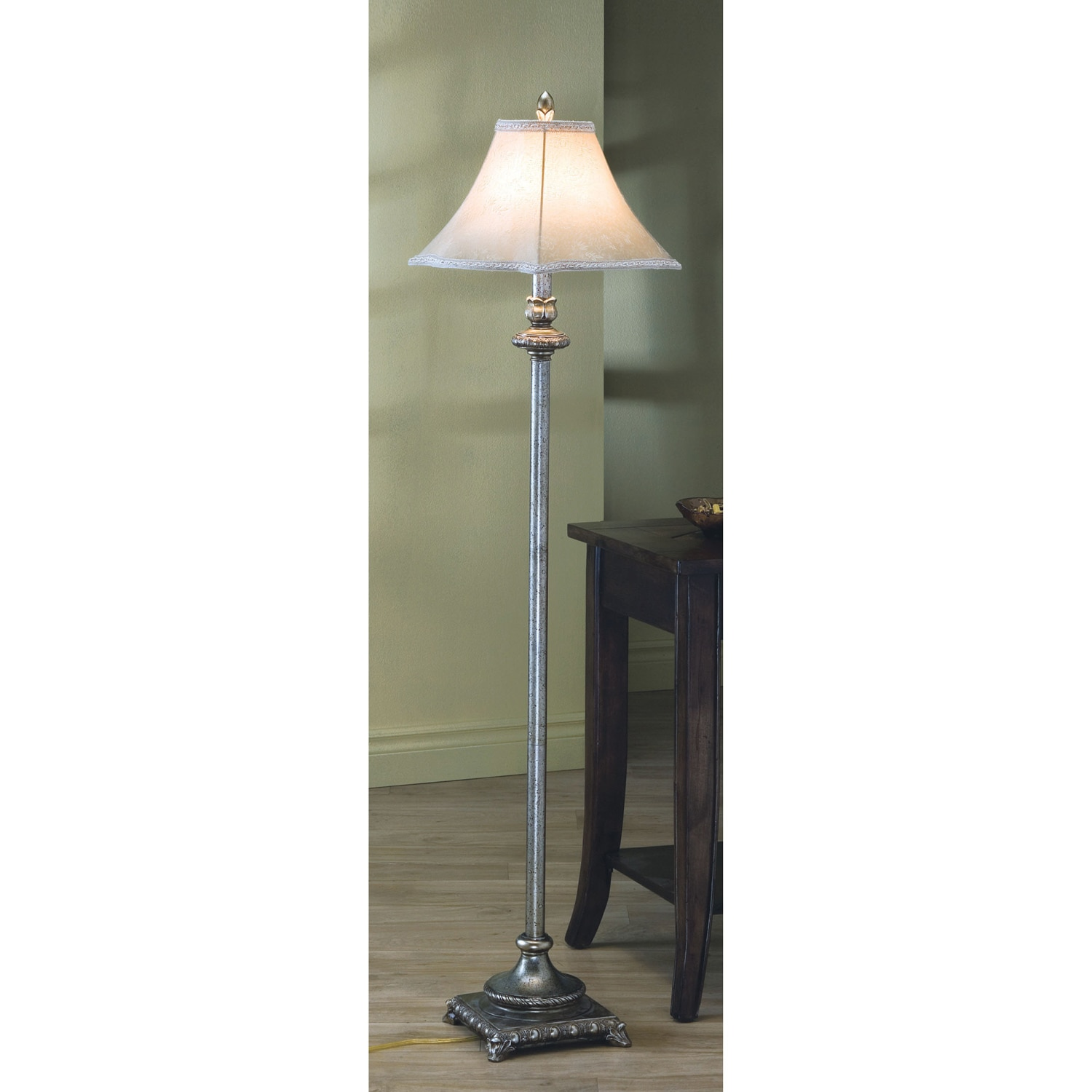 Antique Gold 61-inch Floor Lamp - Thumbnail 0
