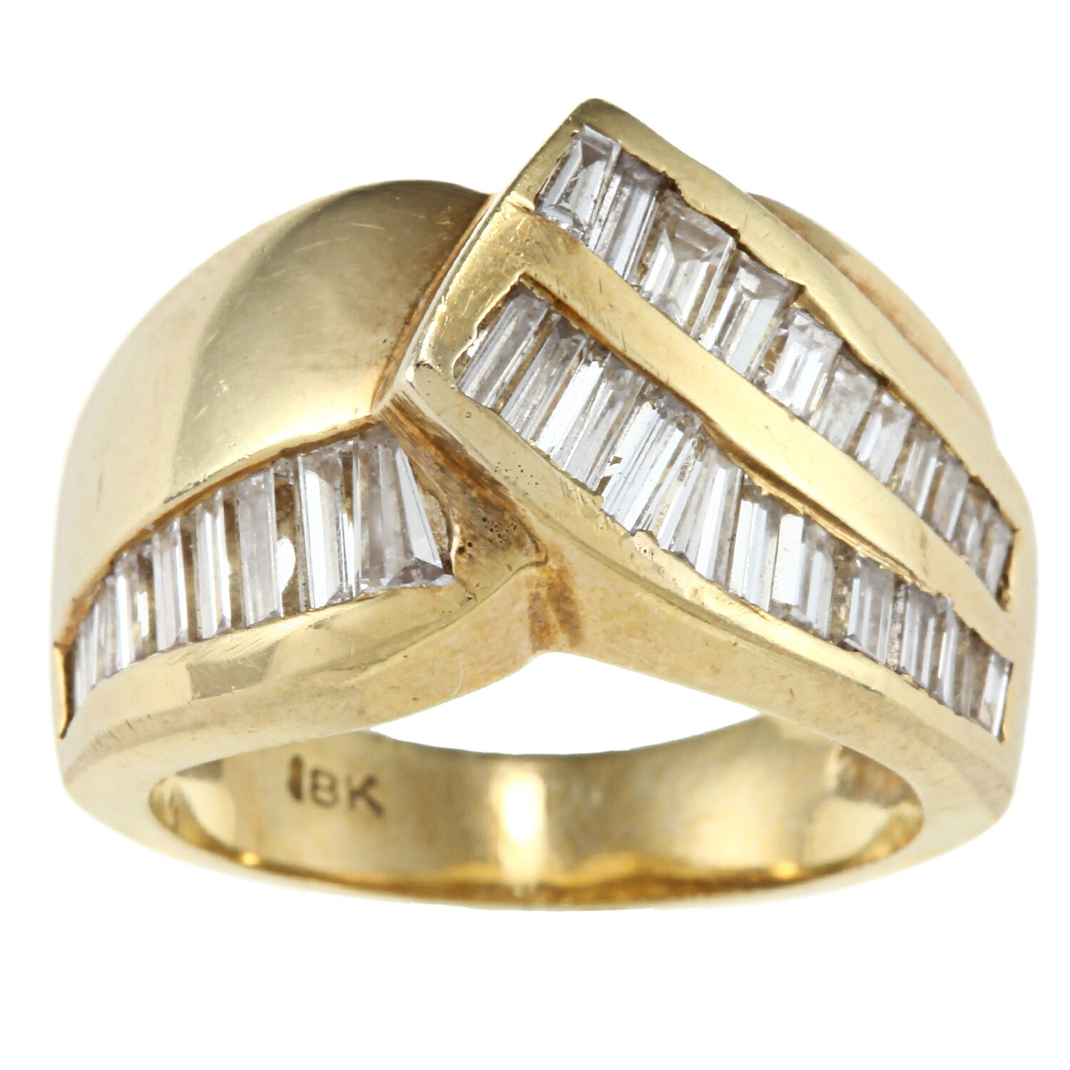 18K Yellow Gold 1 1/2ct TDW Estate Ring (I-J, SI1-SI2) - Thumbnail 0