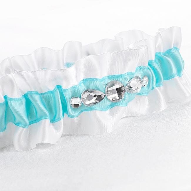 Aqua Glitz & Glam Garter