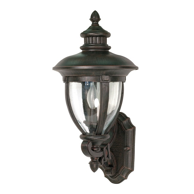 Galeon Arm Up 3-light Old Penny Bronze Wall Sconce