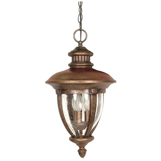Galeon 3-light Platinum Gold Hanging Lantern