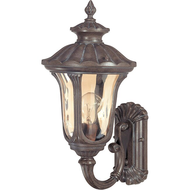 Beaumont 1 Light Arm Up Fruitwood Wall Lantern
