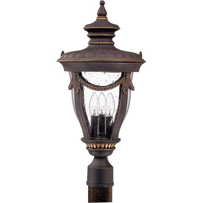 Philippe 3-light Belgium Bronze Post Lantern