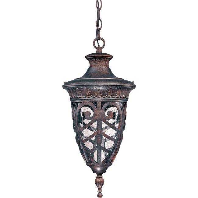 Aston 1-light Dark Plum Bronze Hanging Lantern