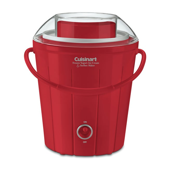 Cuisinart ICE-25R Red Classic Frozen Yogurt, Ice Cream & Sorbet Maker (Refurbished) - Thumbnail 0