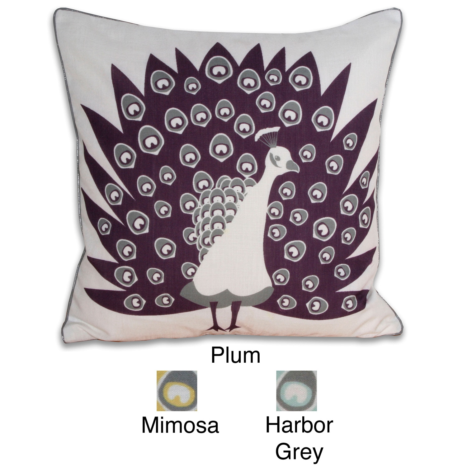 Mod Peacock Square Pillow