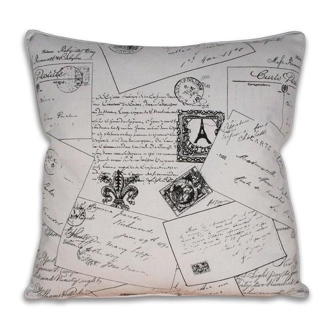 20 x 20 inch Postcard Print Pillow