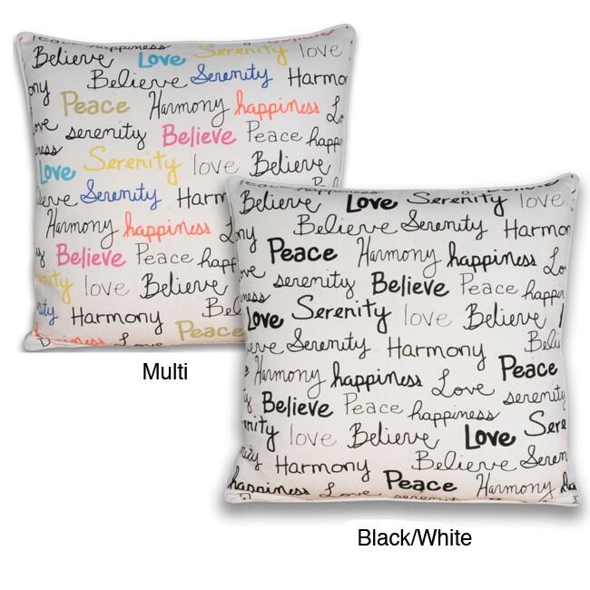 Buddha Words Square Pillow