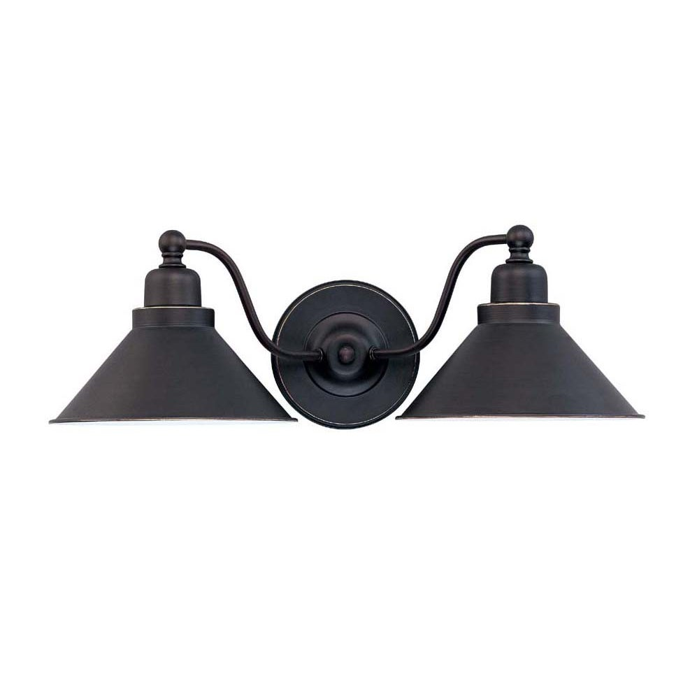 Bridgeview 2 Light Mission Dust Bronze Wall Sconce - Thumbnail 0