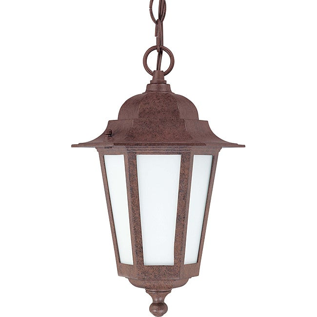 Cornerstone Old Bronze with Satin White Glass 1-light Hanging Lantern