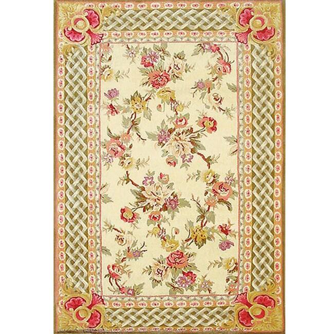 Noonday Florets Wool Silk Rug (5.3' x 8.3')