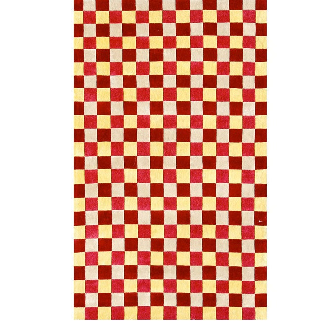 Synergy Red Wool Rug (5' X 8')