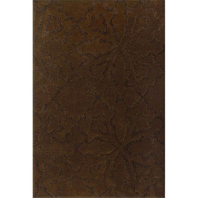 Mykonos Brown Hand Made Wool Rug (8' x 11')