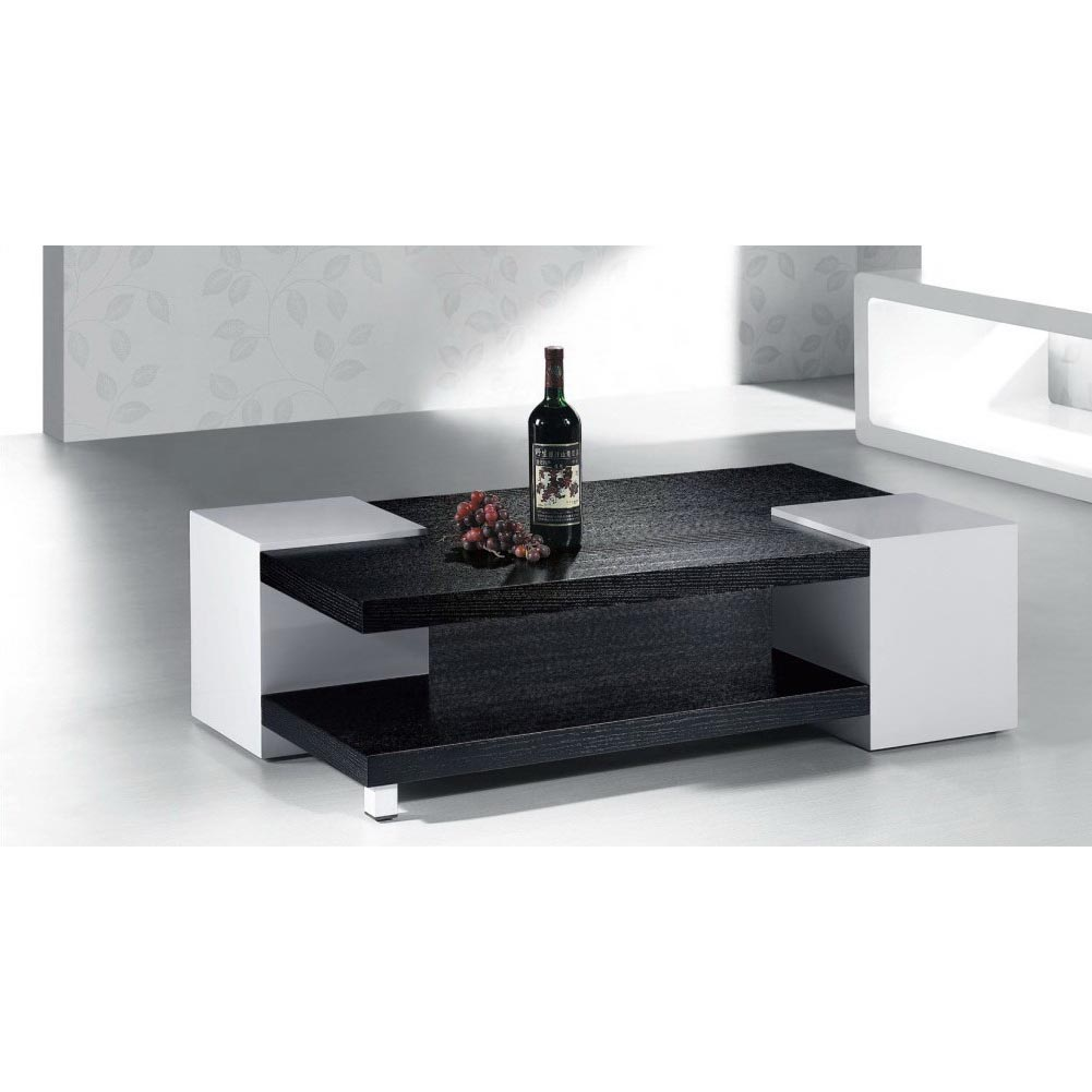 high gloss black / white coffee table - free shipping today