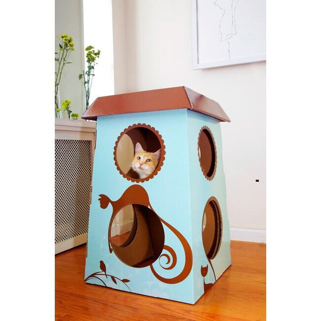 Catemporary Small Cardboard Cat Castle