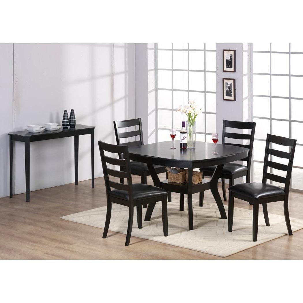 Cappuccino Cherry Veneer 48 inch Diameter Dining Table