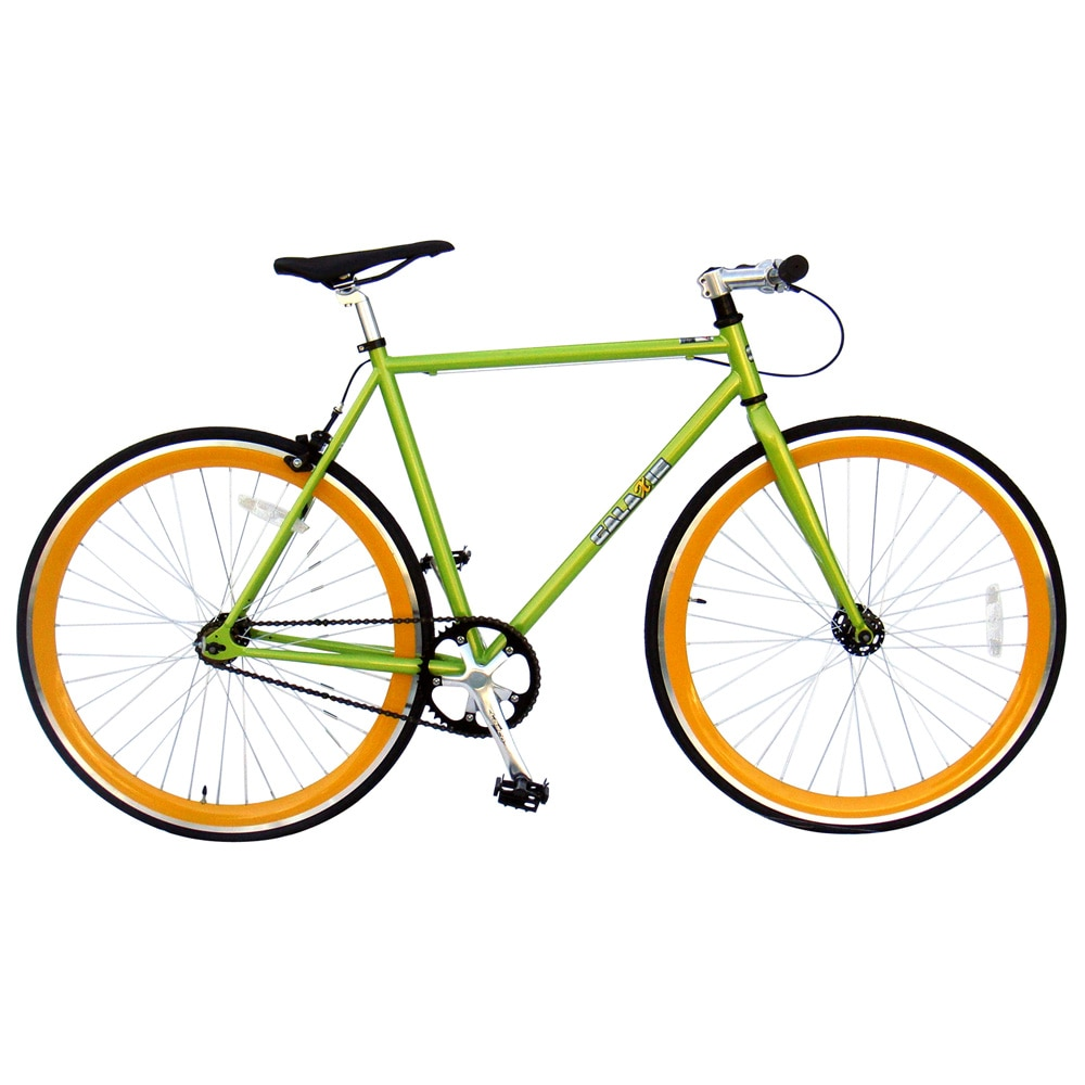 Galaxie Fixie Bike, Green Frame