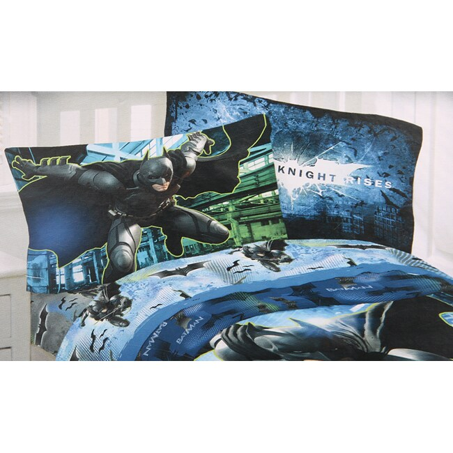 DC Microfiber Batman 'Forced Darkness' Full-size Sheet Set