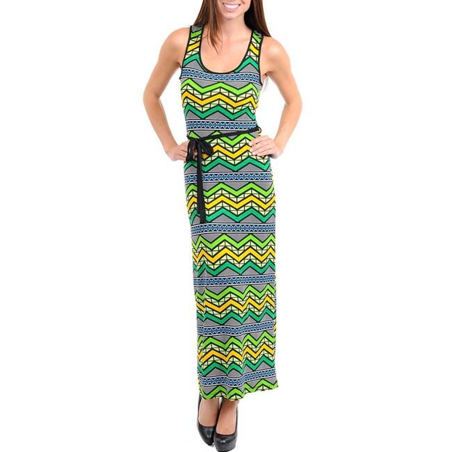 Stanzino Women's Zigzag Printed Maxi Dress