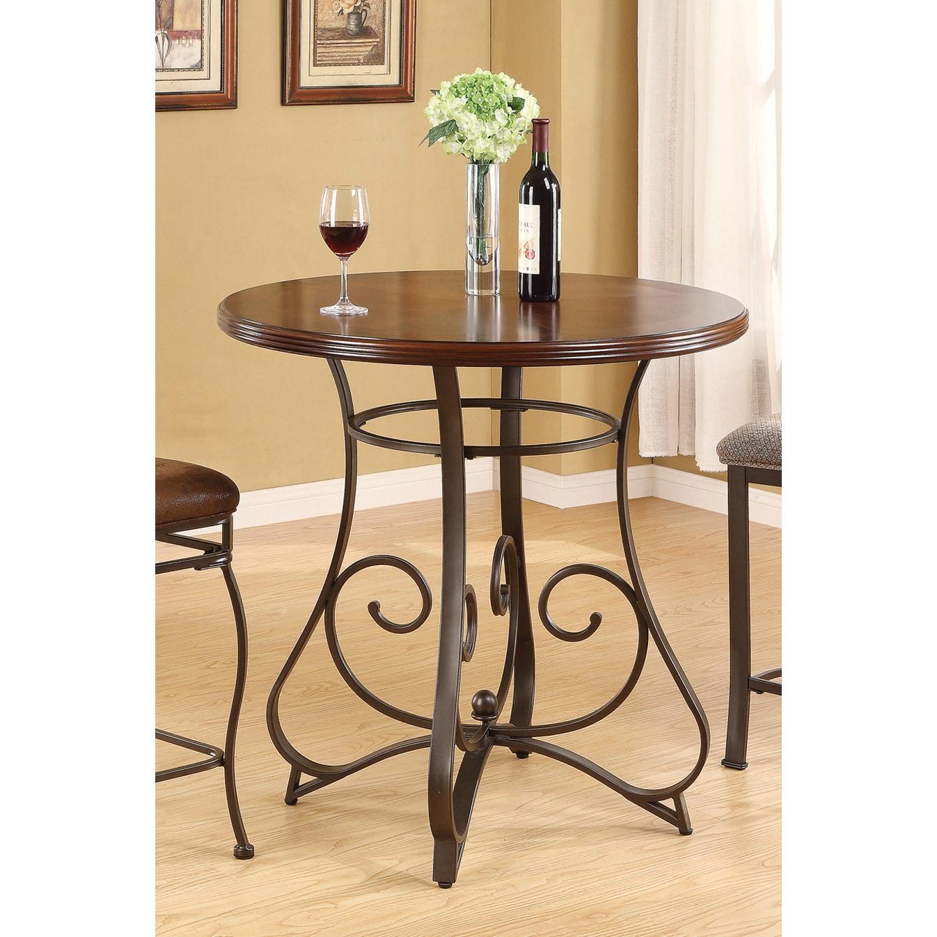 Tavio MDF/ Bronze Metal Bar Table