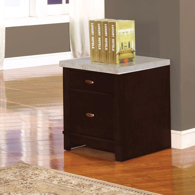 Britney Cabinet with White Marble Top