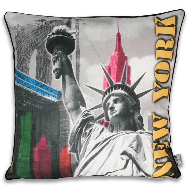 Neon NY City 20x20-inch Pillow