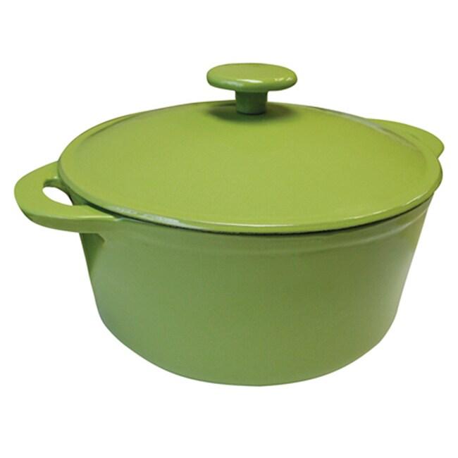 Le Cuistot Fashion Green Enameled Dutch Oven