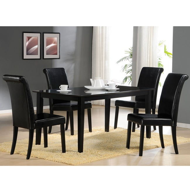 Joe Black Finish Dining Chair (Set of 2)
